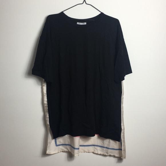 Zara high-low floral shirt.